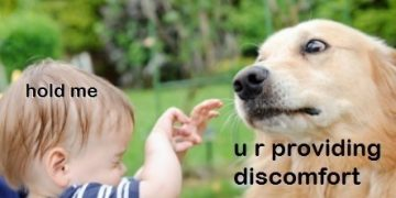 Dog Memes dog-child-360x180 When mama tells me to play nice Dog Memes  kid image cute
